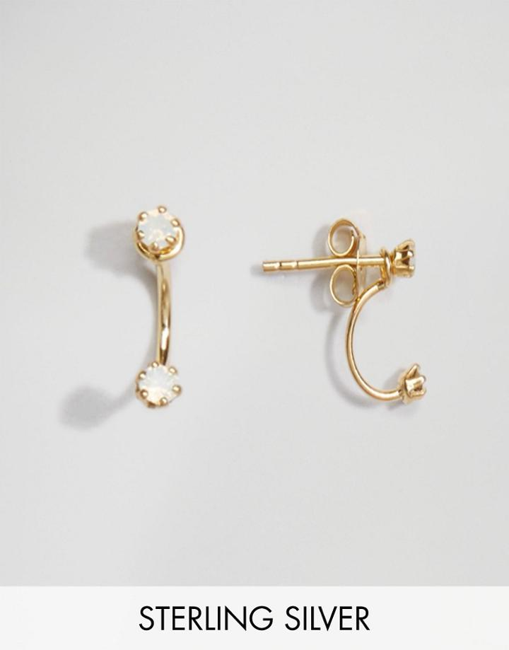 Asos Gold Plated Sterling Silver Mini Swing Earrings - Gold