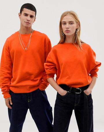Collusion Unisex Regular Fit Sweatshirt In Red - Red