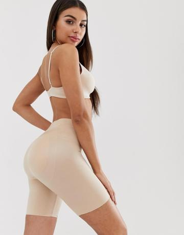 Spanx Suit Your Fancy Butt Enhancer Shaping Shorts In Natural Glam - Beige