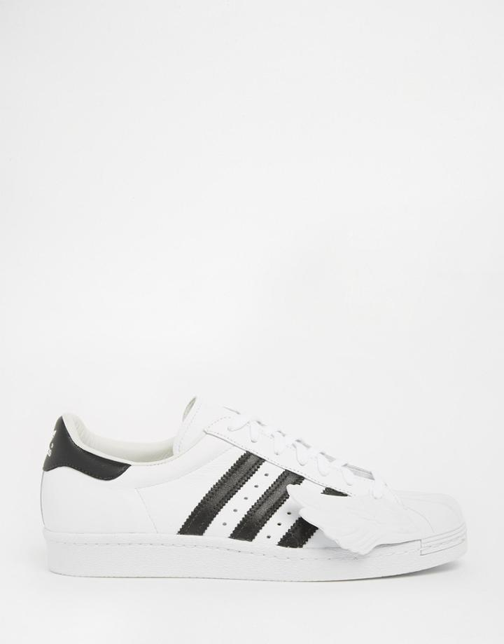 Adidas Originals By Jeremy Scott Superstar Wings Sneakers - White