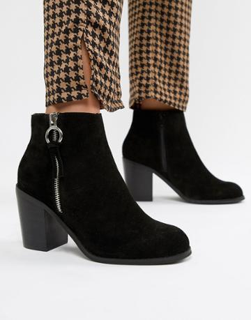 Asos Design Explorer Suede Ankles Boots-black