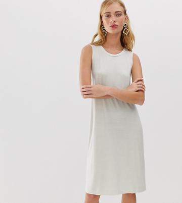 Monki Sleeveless Jersey Mini Dress In Cream Exclusive - White