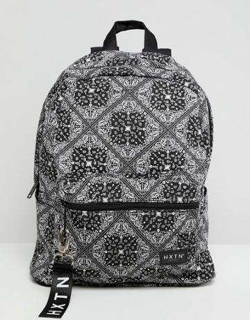 Hxtn Supply Prime Backpack In Bandana Print - Black