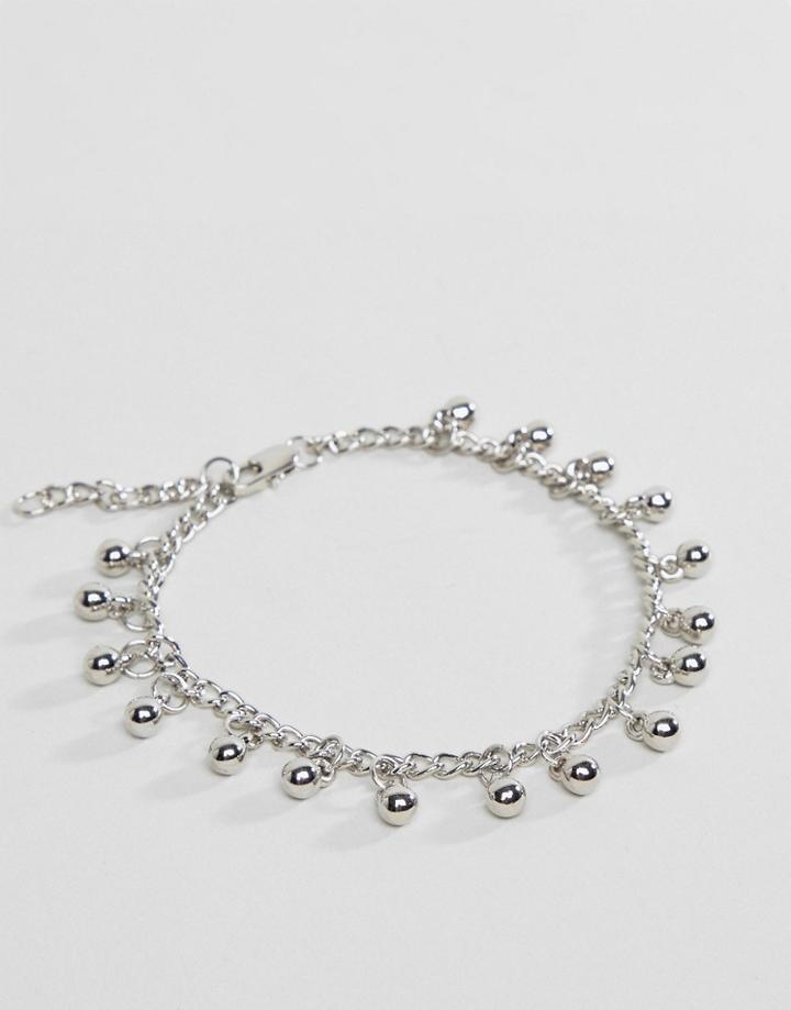 Pieces Charm Anklet - Silver
