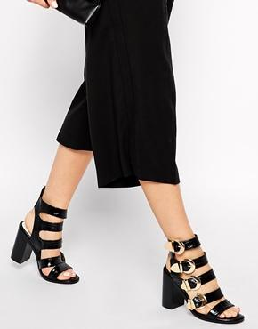 Senso Vale Multi Strap Heeled Sandals - Ebony