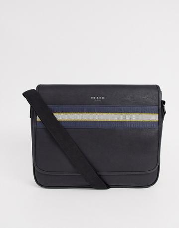 Ted Baker Tabec Webbing Messenger Bag In Black