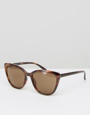 Selected Femme Tortoiseshell Sunglasses - Brown