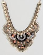 Aldo Multi Bead Statement Necklace - Gold