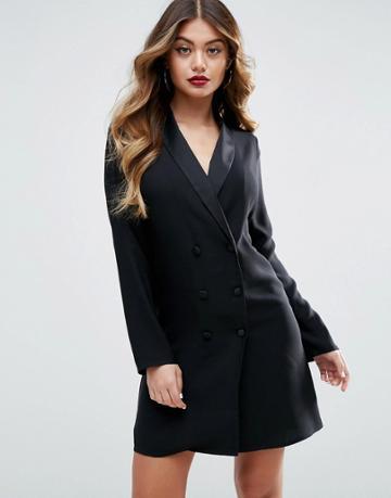 Asos Tuxedo Dress - Black