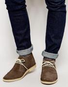 Asos Desert Boots In Suede - Brown Suede