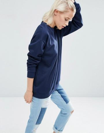 Asos Ultimate Oversized Sweat - Navy