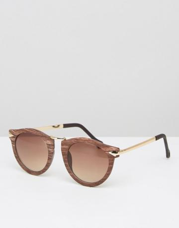 Selected Femme Sunglasses - Brown