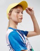 Asos Washed Basic Baseball Cap - Yellow