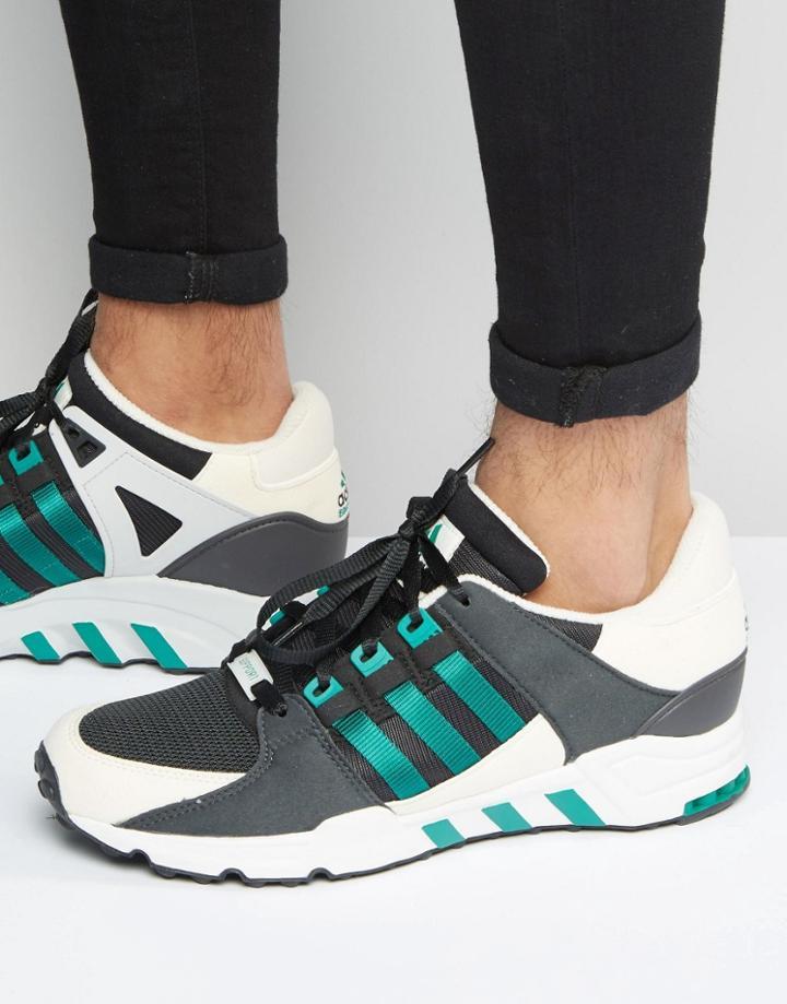 Adidas Originals Equipment Support Sneakers In Black S32145 - Black