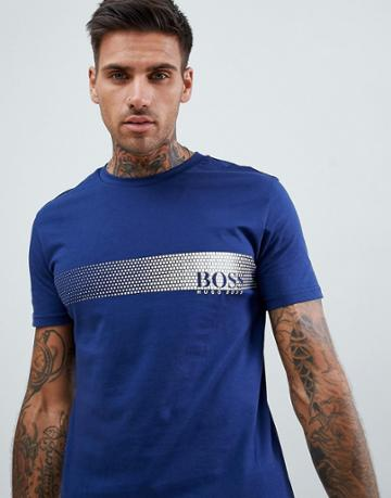 Boss Bodywear Slim Fit Logo T-shirt - Navy