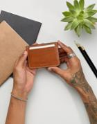 Esprit Leather Card Holder - Brown