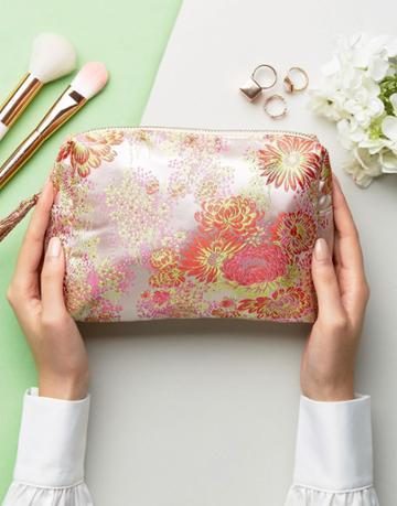 New Look Neon Brocade Makeup Bag - Multi
