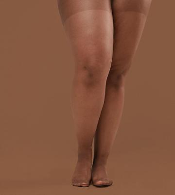 Nubian Skin 15 Denier Nude Tights In Dark - Beige