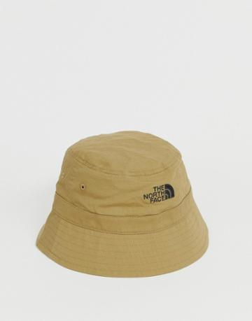 The North Face Cotton Bucket Hat In Stone - Stone