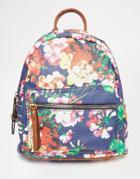 Liquorish Floral Print Backpack - Multi