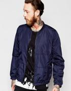 Only & Sons Bomber Jacket - Navy