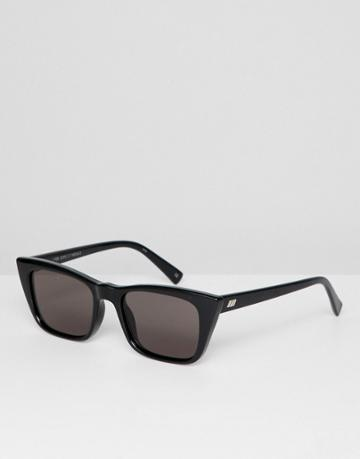 Le Specs I Feel Love Cat Eye Sunglasses In Black - Black
