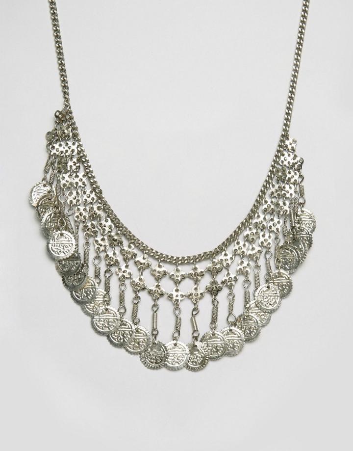 Raga Coin Necklace - Silver