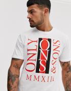 Only & Sons Logo Print T-shirt-white