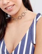 Designb Link Through Choker Necklace - Silver