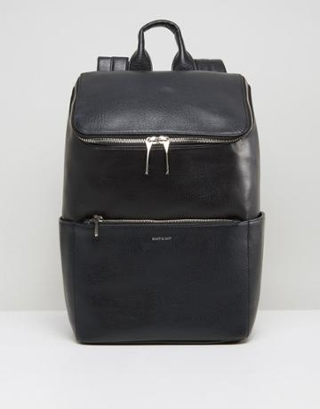 Matt & Nat Brave Double Zipped Backpack - Black