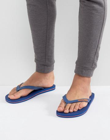 Jack & Jones Logo Flip Flops - Blue