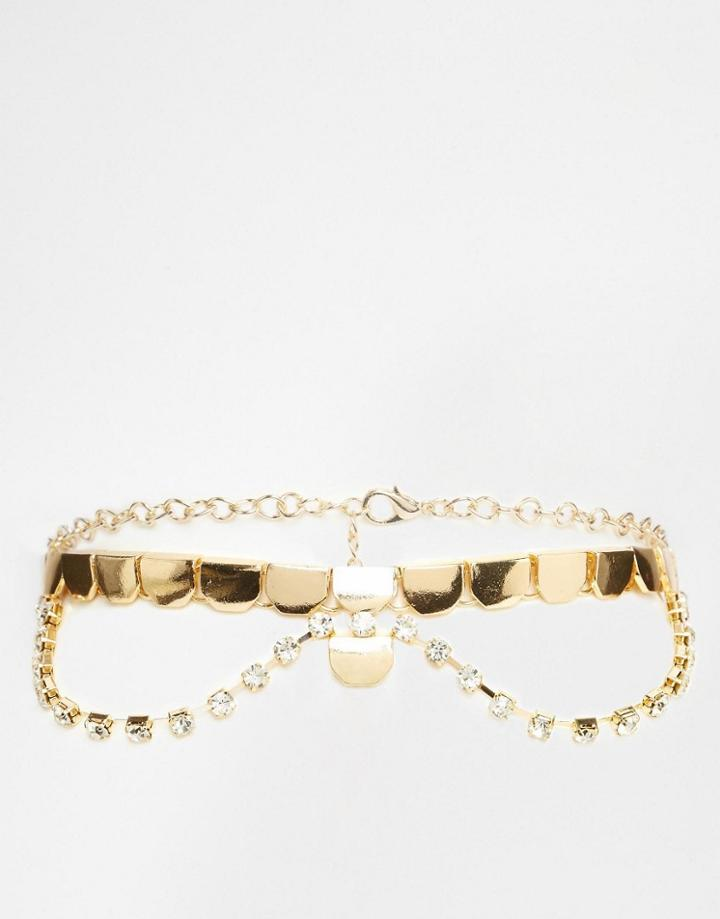 Asos Premium Choker Necklace - Gold