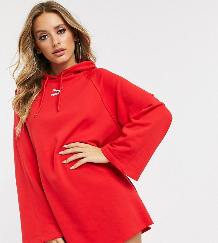 Puma Hooded Dress In Red Exclusive To Asos