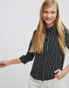 Monki Stripe Shirt - Multi