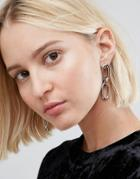 Cheap Monday Linked Earrings - Silver