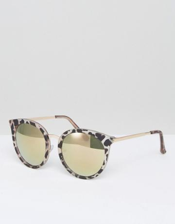 New Look Animal Mirrored Sunglasses - Pink