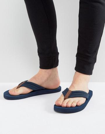 Jack & Jones Banda Flip Flops - Navy