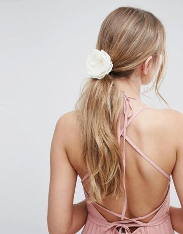 Asos Wedding Soft Flower Hair Clip - Cream
