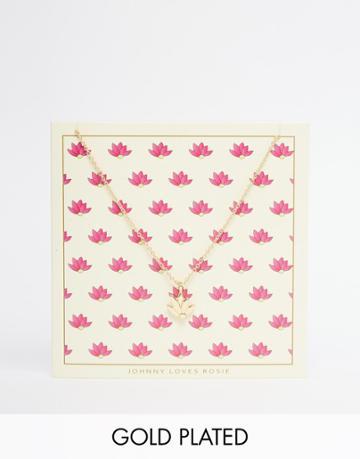 Johnny Loves Rosie Lotus Flower Pendant Necklace Giftcard - Lotus