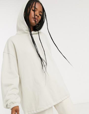 Weekday Blaze Oversized Hoodie With Drawstring In Light Beige