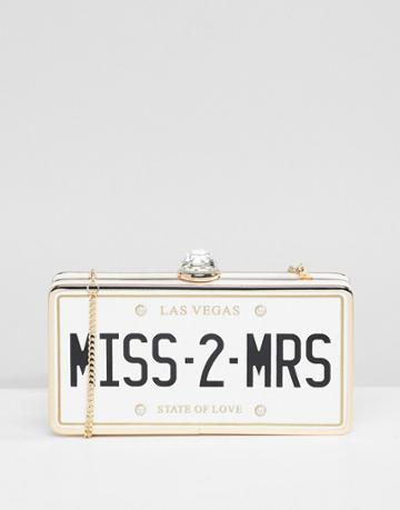 Aldo Bridal Miss 2 Mrs Clutch Occasion Bag - White