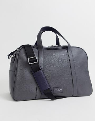 Ted Baker Traves Leather Carryall In Gray