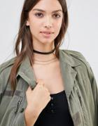 Pieces Choker & Layering Chain Necklace - Black