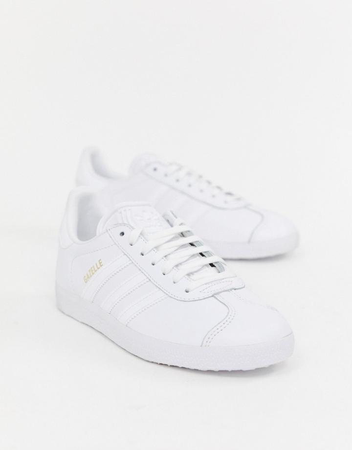 Adidas Originals Gazelle Sneakers In White - White