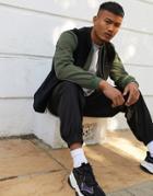 Asos Design Cord Vest In Black