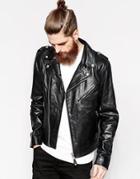 Schott Leather Biker Jacket - Black