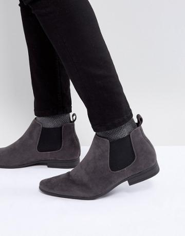 New Look Chelsea Boots In Gray - Gray