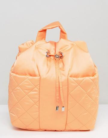 Asos Lifestyle Padded Backpack - Orange
