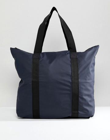 Rains 1224 Tote Bag In Navy - Navy