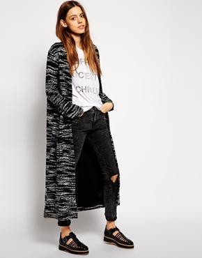Asos Longline Maxi Texture Jacket